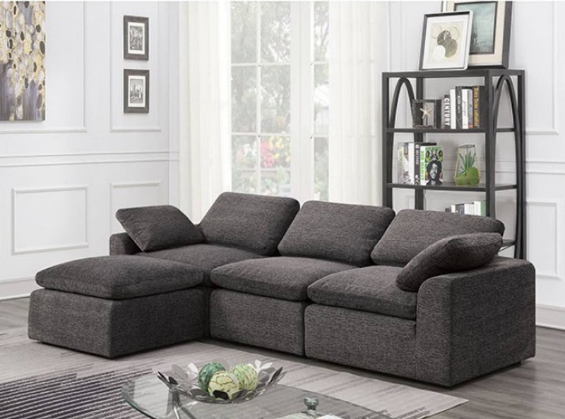 Joel 4 Seat Sectional Sofa in Gray