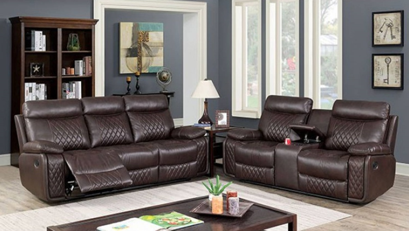 Mandan Recliner Living Room Set in Brown