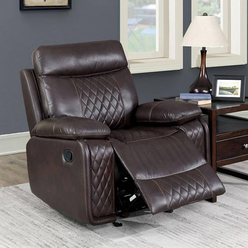 Mandan Recliner Living Room Set in Brown