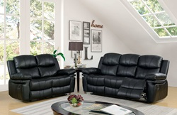 Listowel Reclining Living Room Set in Black