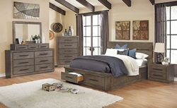 Oakes Bedroom Set in Gray