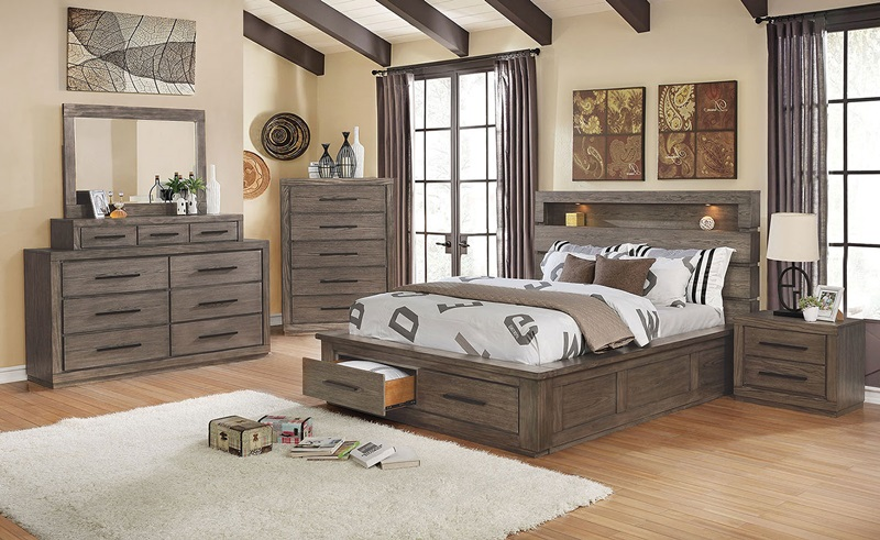 CM7048GY Oakburn Gray Bedroom | Furniture of America | Free Delivery