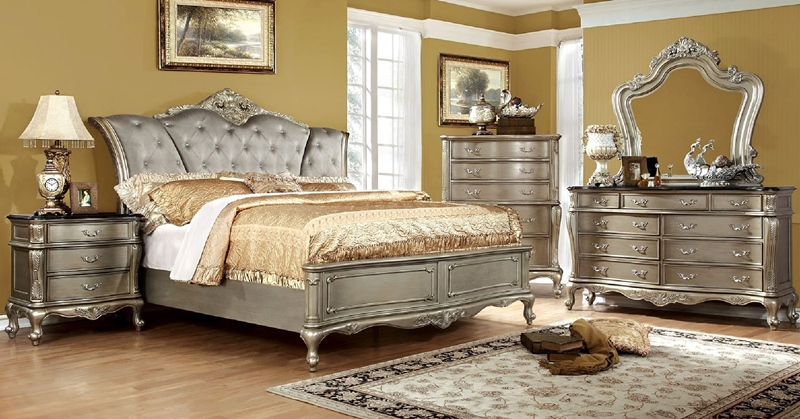 Johara Bedroom Set in Gold