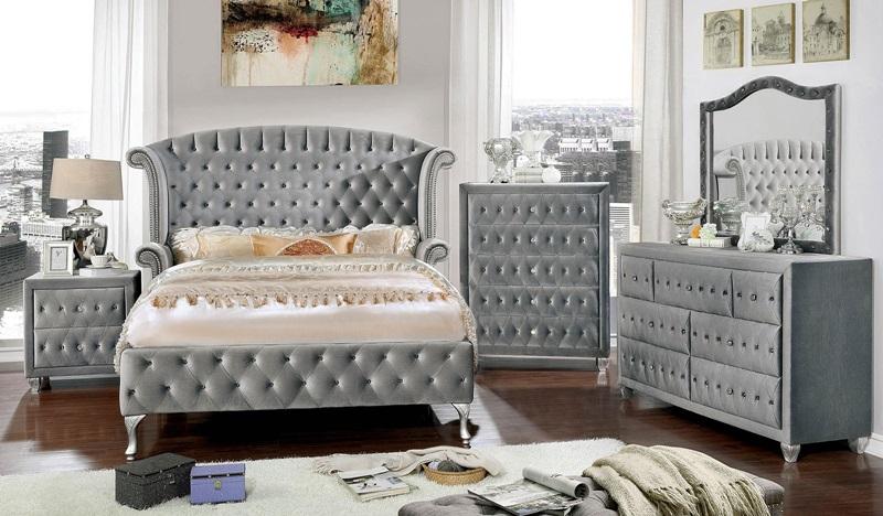 Alzir Bedroom Set in Gray