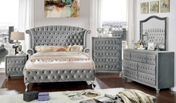 Alzir Bedroom Set in Gray