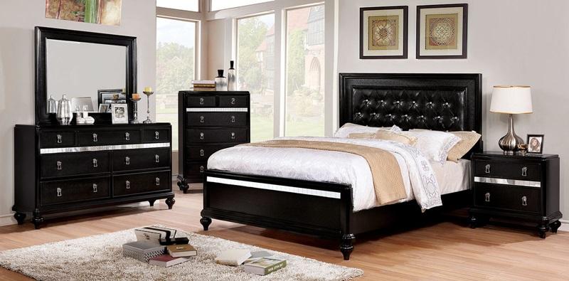 Avior Bedroom Set in Black