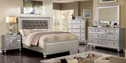 Avior Bedroom Set in Silver