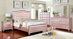 Avior Youth Bedroom Set in Rose Gold