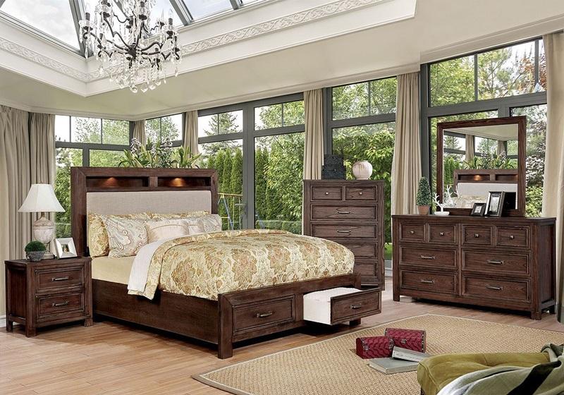 Tywyn Bedroom Set in Dark Oak