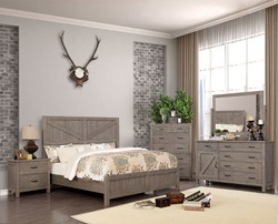 Brenna Bedroom Set in Gray
