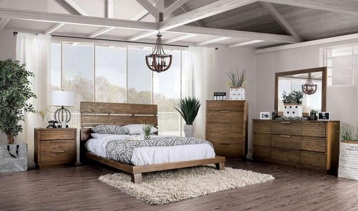 Tolna Bedroom Set in Rustic Walnut