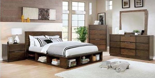 Torino Bedroom Set in Rustic Walnut