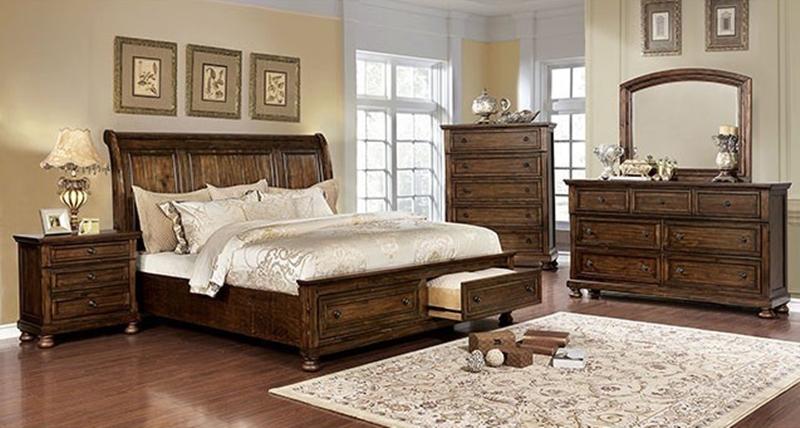Wells Bedroom Set in Dark Oak