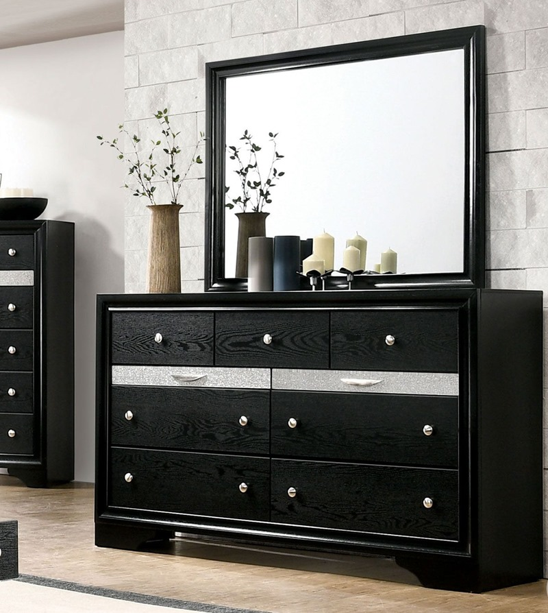 Chrissy Bedroom Set with Storage Drawers Black