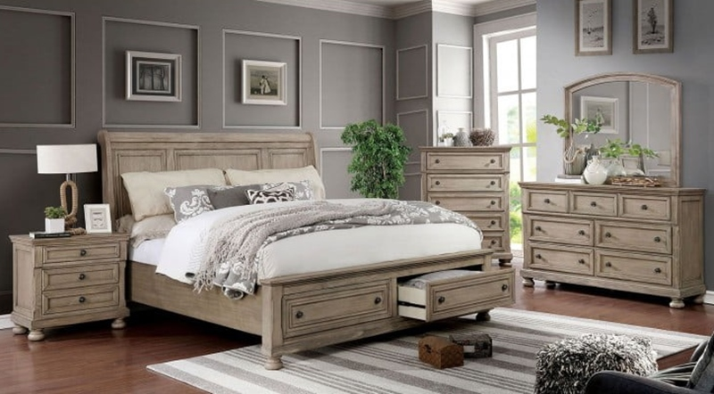 Willa Bedroom Set in Gray