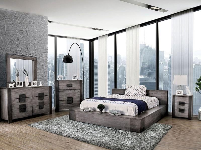 Janeiro Bedroom Set in Gray