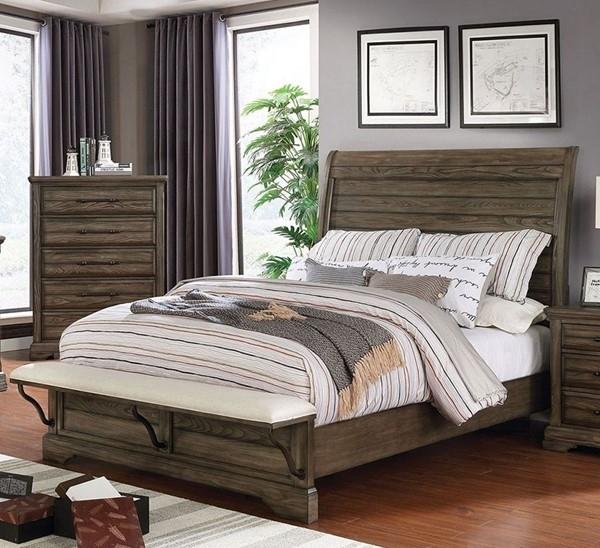 Gilbert Bedroom Set in Light Walnut
