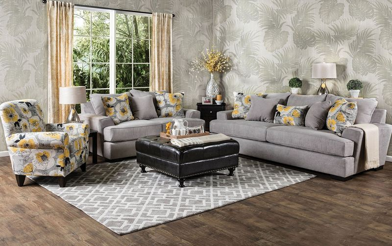 Cashel Living Room Set in Gray