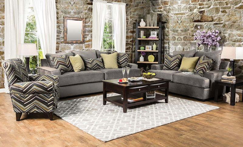 Cashel Living Room Set in Olive