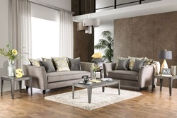 Chantal Living Room Set in Gray