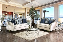 Chantal Living Room Set in Off-White