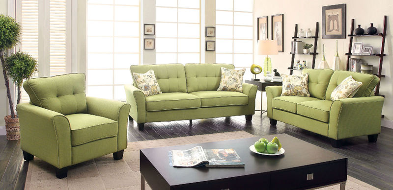 Claire Living Room Set in Green