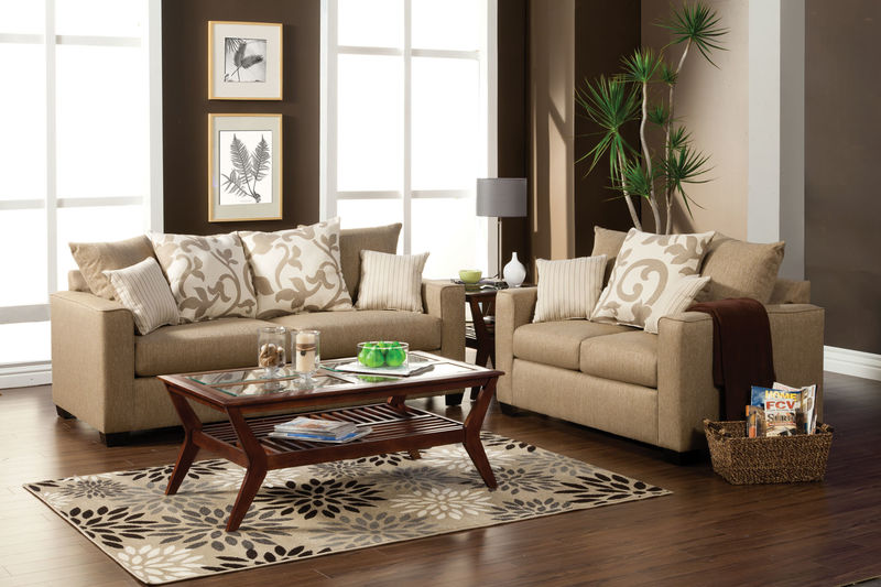 Colebrook Living Room Set in Beige