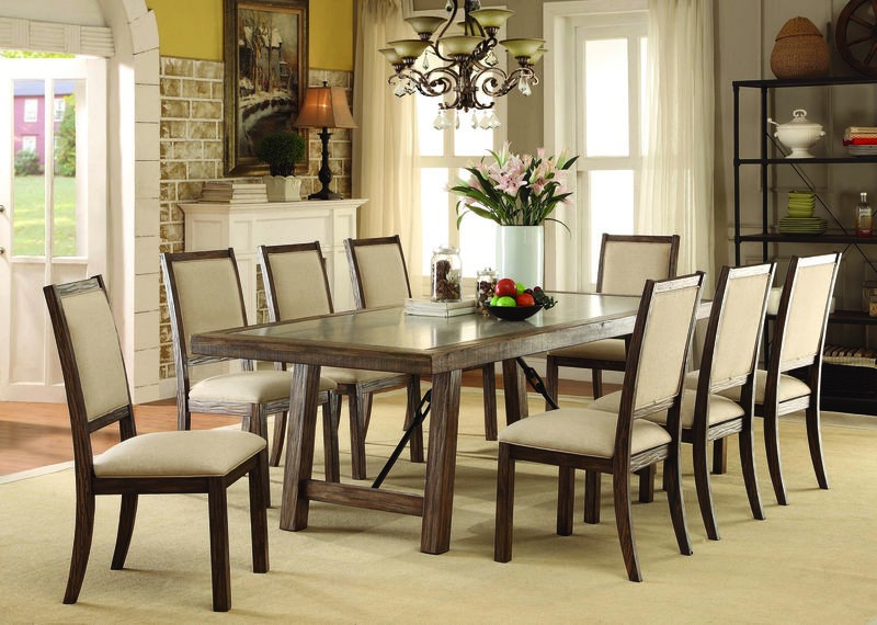Colette Dining Room Set With Fabric Chairs ...