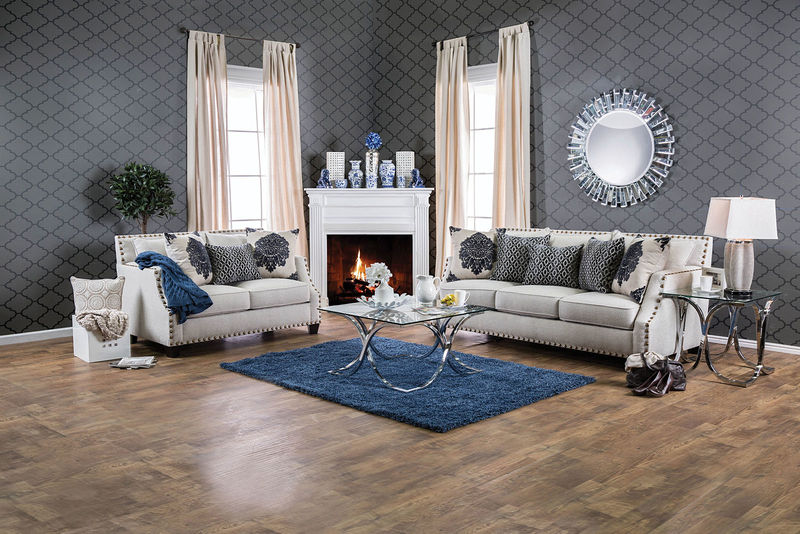Cornelia Living Room Set in Beige