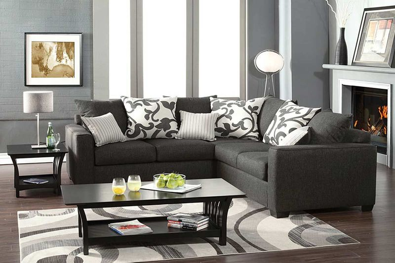 Cranbrook Sectional in Charcoal