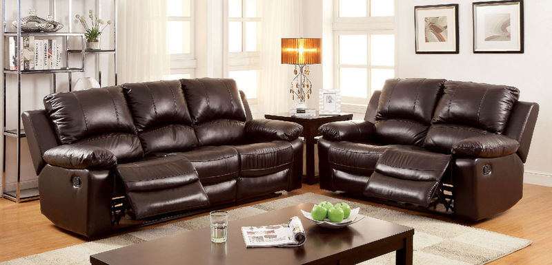 Davenport Reclining Leather Living Room Set