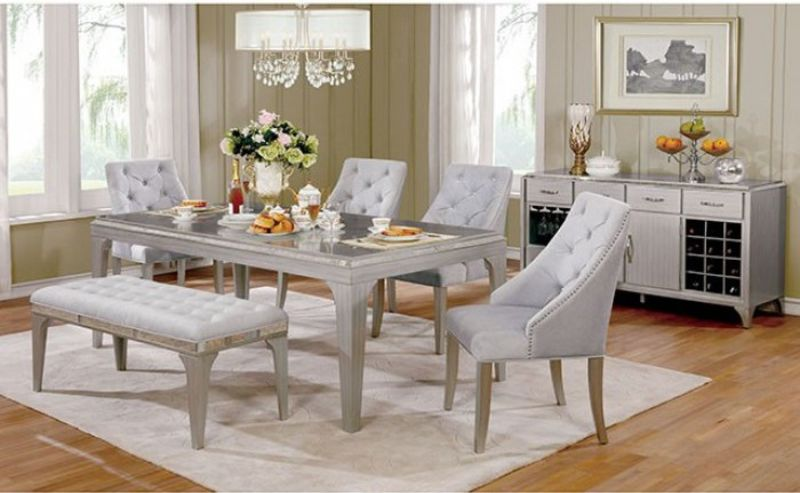 Diocles Formal Dining Room Set with Bench