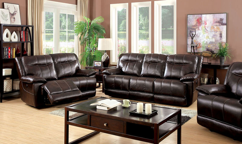 Dolton Reclining Living Room Set in Brown with Power Motion