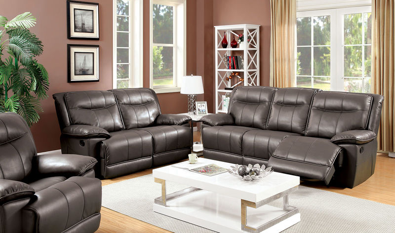 Dolton Reclining Living Room Set in Gray