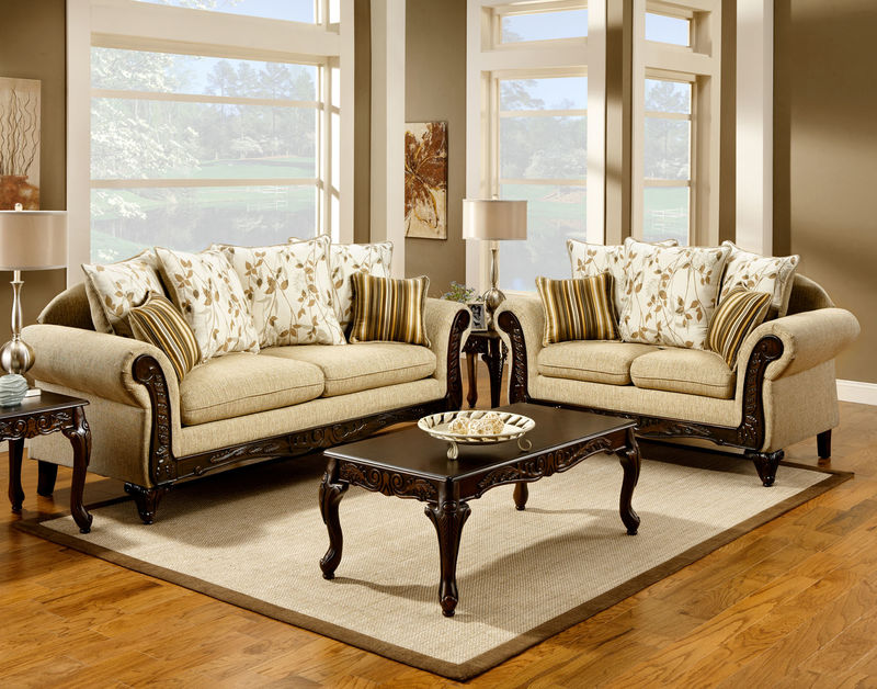 Doncaster Living Room Set in Tan