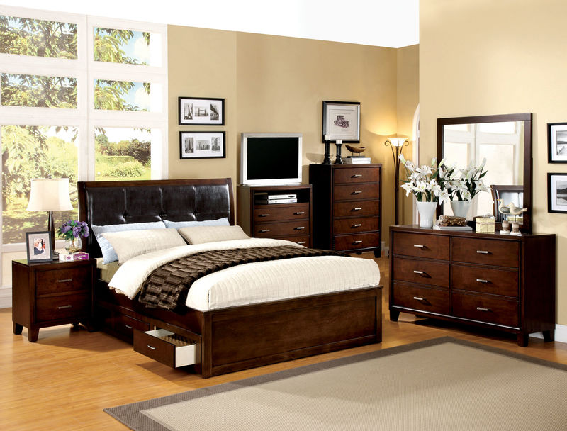 Enrico IV Bedroom Set with Storage Drawers
