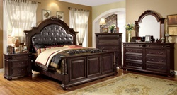 Esperia Bedroom Set with Upholstered Headboard