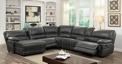 Estrella Reclining Sectional in Gray