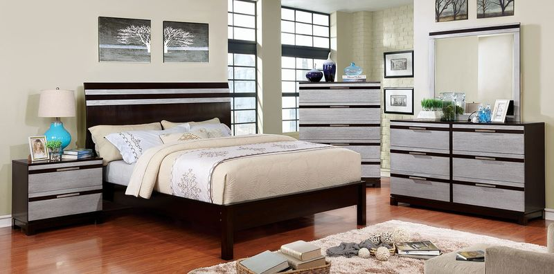 Euclid Bedroom Set with Wooden Headboard