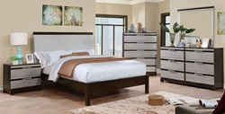 Euclid Bedroom Set with Leatherette Headboard