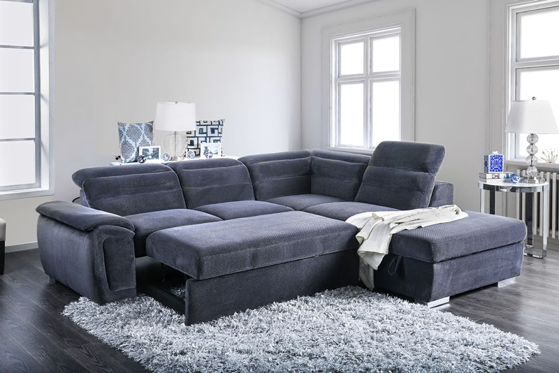 Felicity Sectional Sofa in Dark Gray