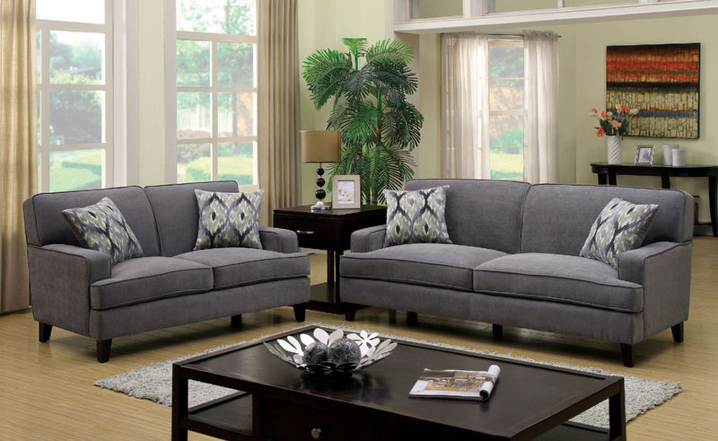 Francis Living Room Set in Gray
