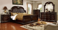 Fromberg Bedroom Set in Brown Cherry