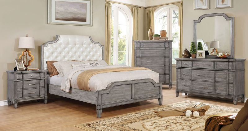 Ganymede Bedroom Set with Upholstered Headboard
