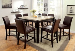Gladstone Counter Height Dining Room Set in Walnut