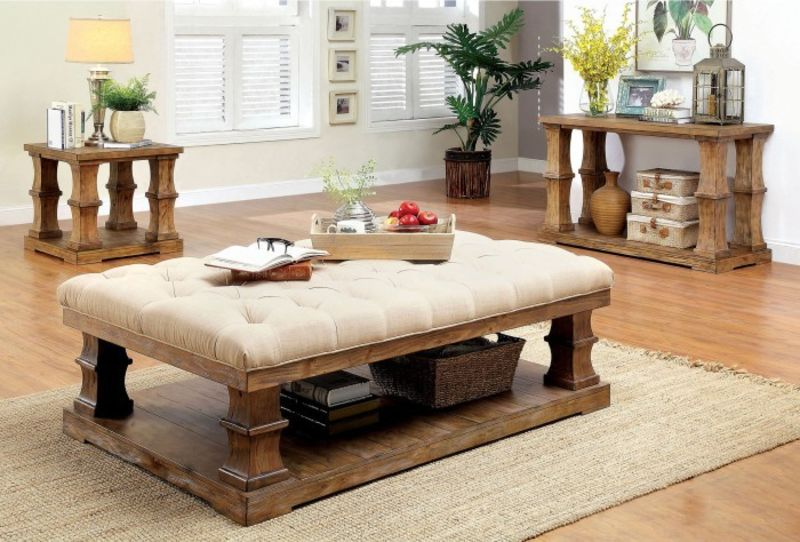 Granard Coffee Table Set with Cushioned Top
