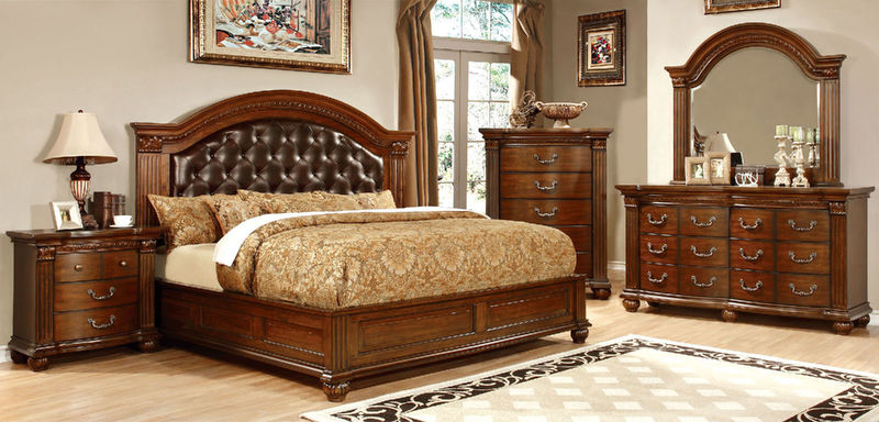 Grandom Bedroom Set with Upholstered Headboard