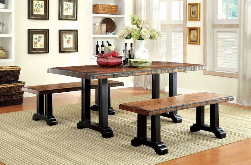 Gregory Dining Room Set with Bench Seating