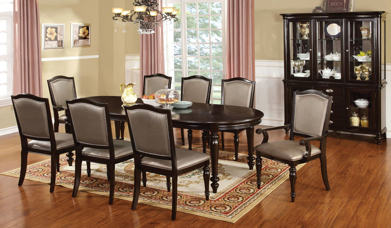 formal dining room sets seats 10 set leatherette chairs table for 8