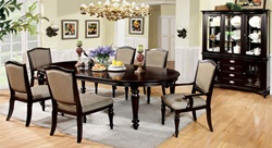 Harrington Formal Dining Room Set with Fabric Chairs